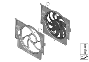 Kryt ventilátoru s ventilátorem