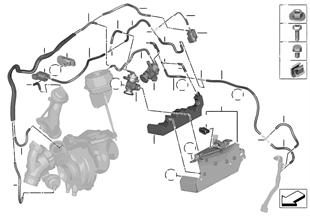 Commande a depression-moteur-turbo comp.