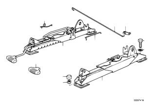 BMW スポーツ シート、シート レール