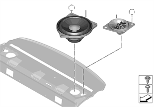 Einzelteile Lautsprecher Ablegeboden