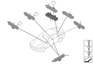 単体部品 コンフォート アクセス アンテナ