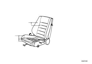 Bmw sportstoel stoelbekleding