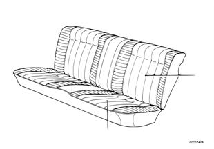 Обивка подушки сиденья Зд