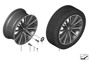 BMW LM Jant W spoke 423 — 19''