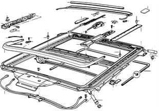 Telaio di tetto scorrevole e sollevabile