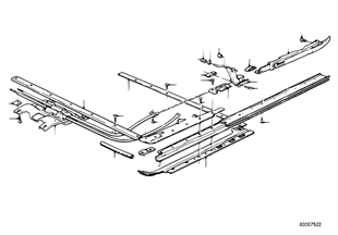 Single parts for sliding lifting roof