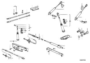 Pieces de capote electro hydraulique