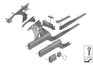 Passage de roue — Support moteur