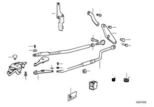 Tringlerie de capote electromecanique
