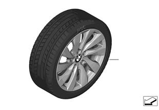 Winter wheel & tire, turbine styling 381