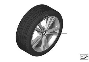 Winter wheel & tire, Double Spoke 385
