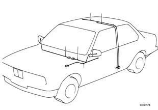Wiring set mirror/interior light