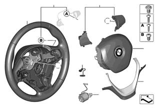 Volante sportivo airbag, pelle