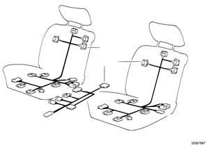 導線組 電動座椅調整裝置 前部