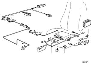 Faisceau reglage electrique siege sport