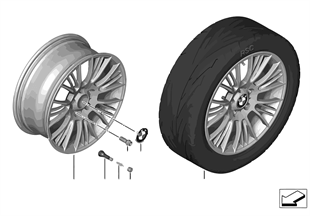 BMW LA wheel Radial Spoke 388 — 18''