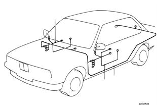 Faisceau pour retro exterieur electrique