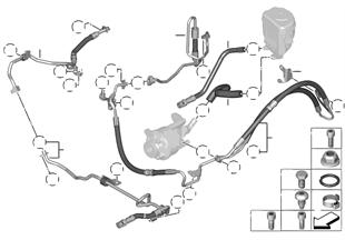 Idroguida/tubazione olio/dynam.drive