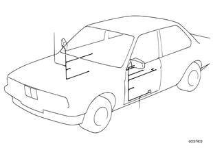 Conj. cabos retrovisor ext. eléctrico