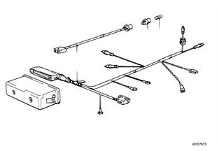 Chicote de cabos do ABS