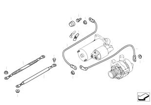 Kabel startmotor