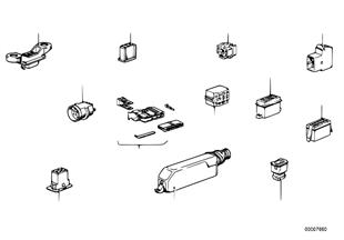 Conector ficha cabos/caixa ficha
