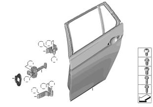 Tylne drzwi — zawias/hamulec drzwi