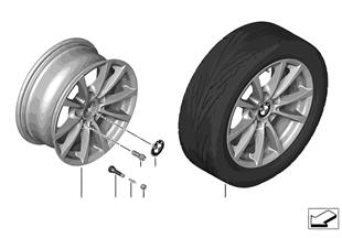 BMW LA wheel V-Spoke 390 — 16''