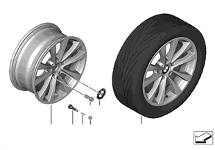 BMW LM velg V-spaak 395 — 17''
