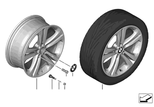 BMW LA wheel Double Spoke 401 — 19''