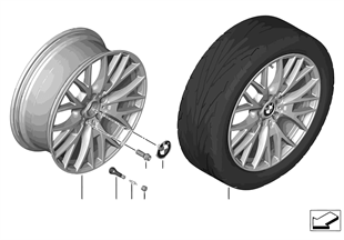 BMW LM velg kruisspaak 404-20''