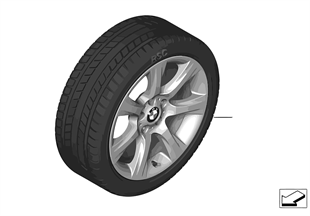 Winter wheel & tire set, Star Spoke 396