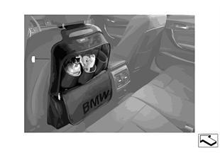 バックレスト ポケット BMW Lines