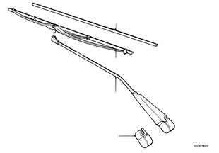Braço limpa-vidros/escova limpa-vidros