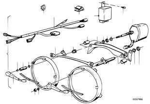 Kit mont.post. sistema lavagem faróis