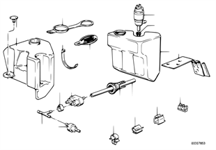 Sistema lavagem pára-brisas (intensiva)