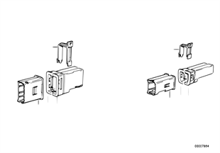Kabelsteckverbindung-Halter