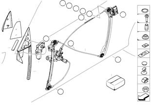 Механизм перемещения стекла двери Пд