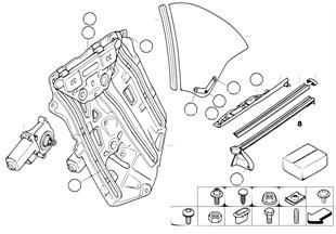 Mechanizm szyby drzwi tylnych