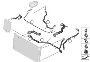 Tubos flex. líquido do sist.refrigeração