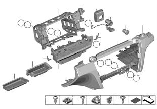 설치부품, 계기판 패널, 아래