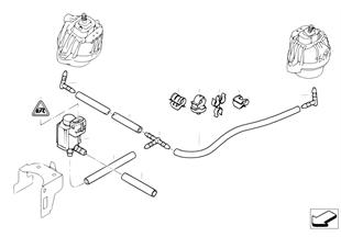 Comando depressione cuscinetti motore