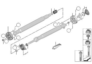 Flectors/palier central/écrou encastré