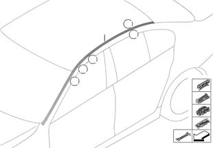 Daksierlijste/Dak reling