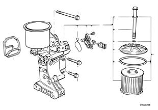 Přívod oleje-olejový filtr