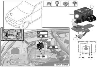 Реле эл.вентил.двигателя 850 Вт K5