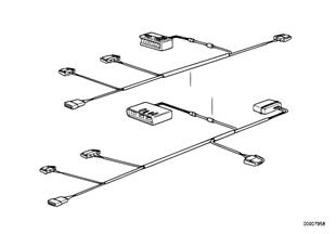 Wiring set steering column mechanism