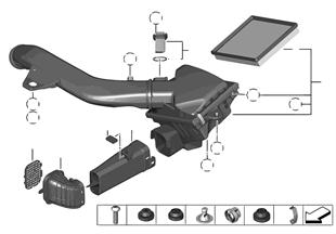 Tłumik szmerów ssania/wkład filtra/HFM