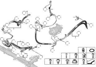 Hydr.řízení olejová vedení/Dynamic Drive