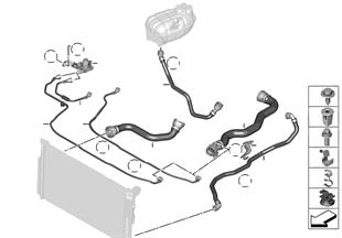 Tubo flex. líquido sist. refrigeración